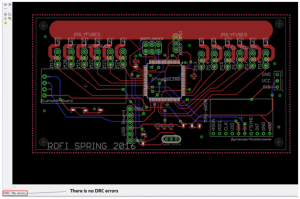 finalized PCB layout