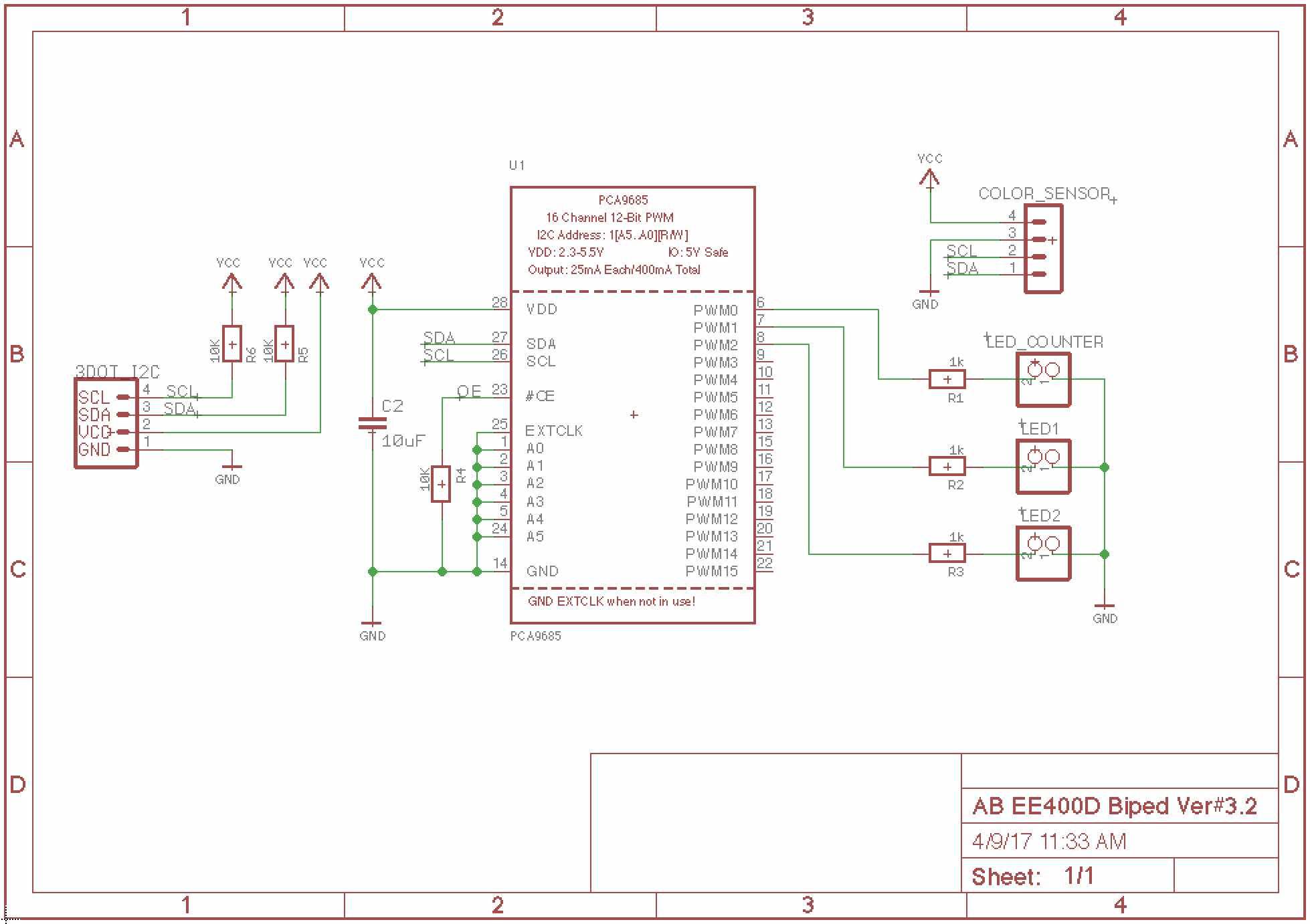 Spring 2017 BiPed - PCB Schematic - Arxterra